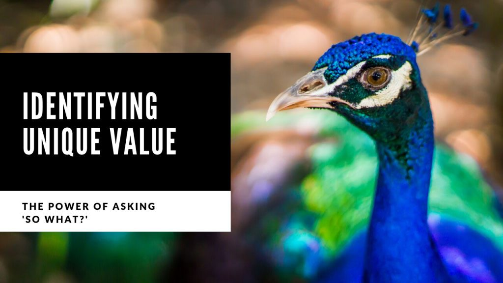 Photo of a peacock and blog post talking about the power of asking in B2B